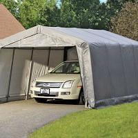 Garage abri souple Gris 18.13m2