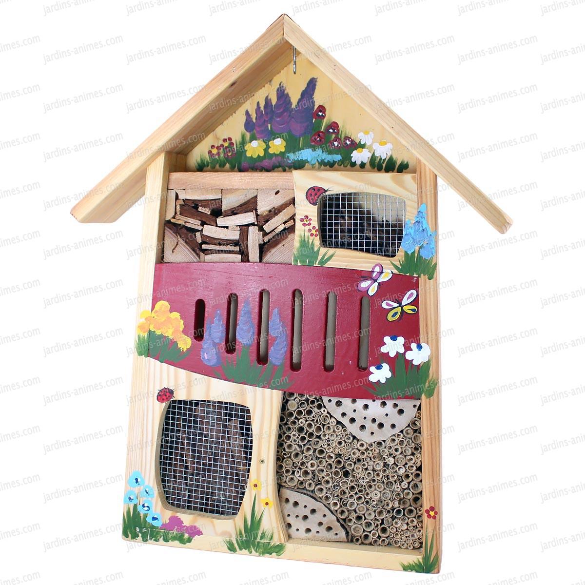 gite pour insectes rouge maisons abris animaux. Black Bedroom Furniture Sets. Home Design Ideas