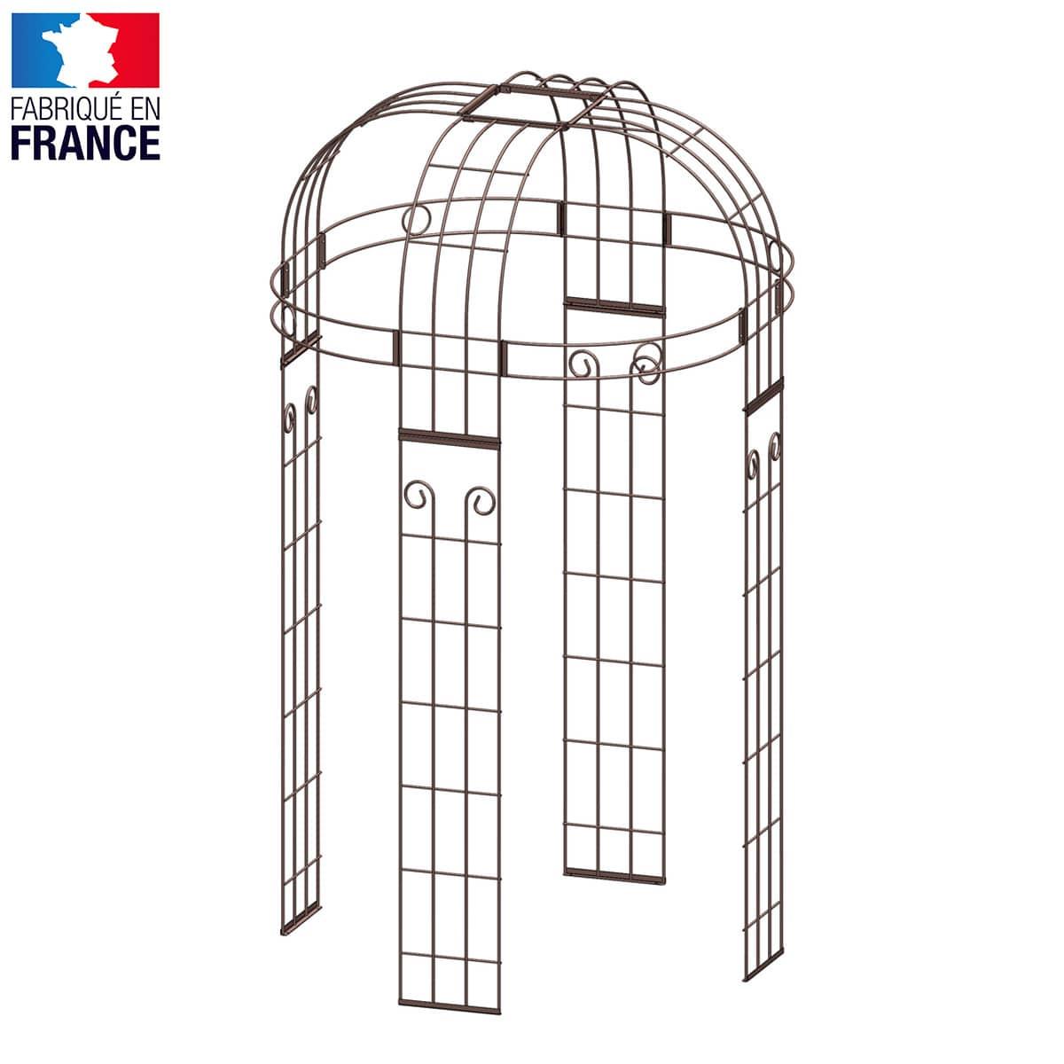 Gloriette acier art déco 4 pieds Diam.1.40m - Arches Kiosque et Marquise