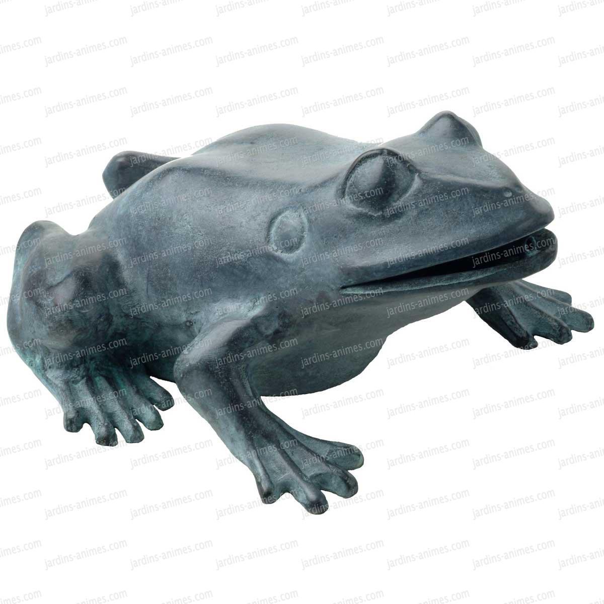 Grenouille cracheur 106 en bronze sujet fontaine for Bache pour bassin grande taille