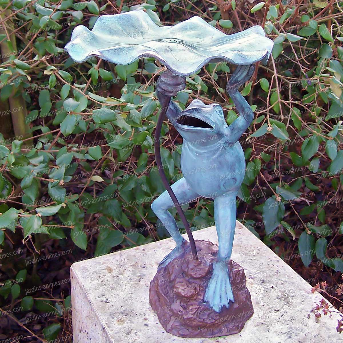 Grenouille feuille cracheur - sculpture en bronze - Sujet ...