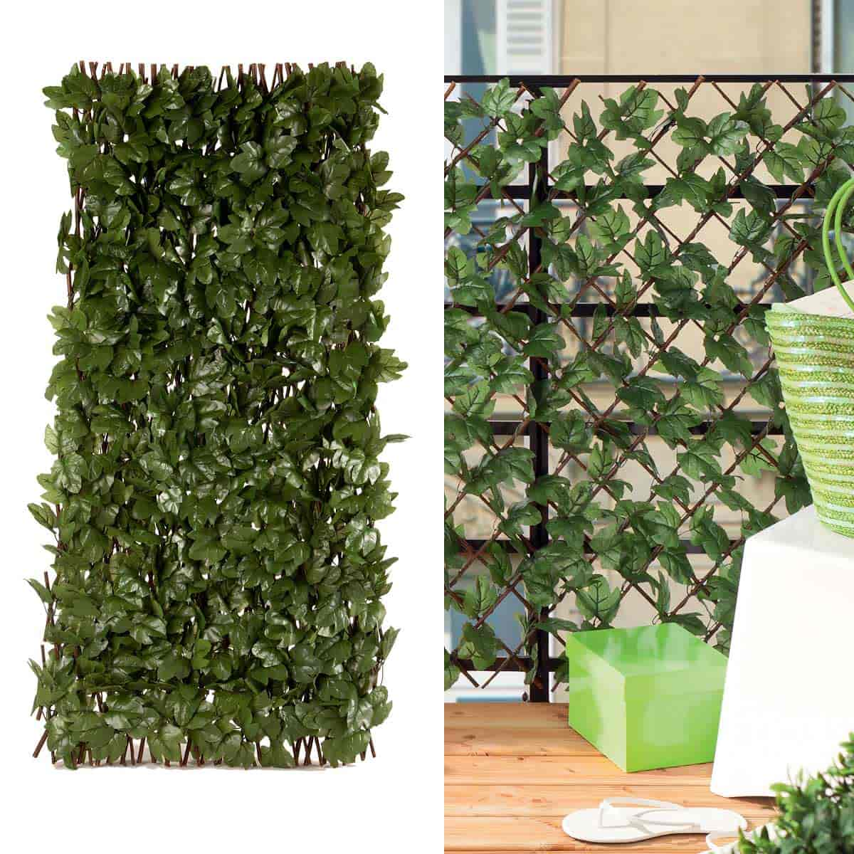 Haie artificielle lierre for Plante artificielle jardin