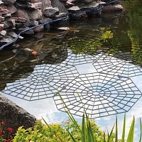 Lot de 20 grilles de protection pour étang et bassin