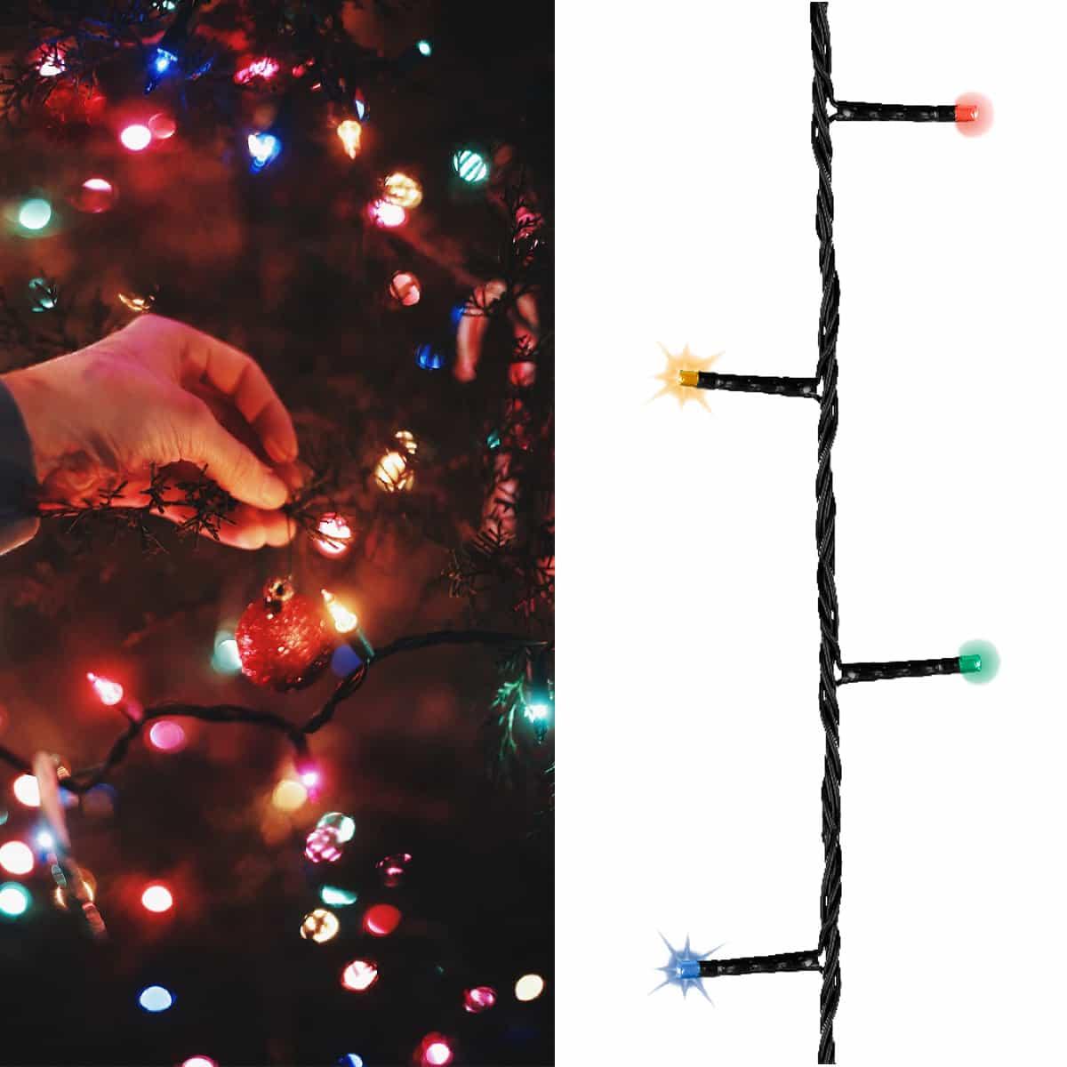 Idee Deco Guirlande Exterieur guirlande lumineuse extérieure clignotante - 8 fonctions 192 leds