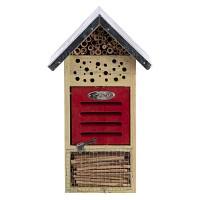 Hôtel à insectes bois FSC, toit en zinc H. 32,5cm