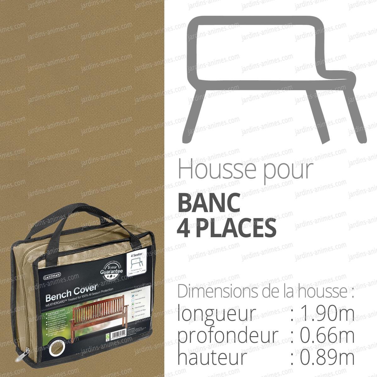 housse bache protection banc 4 places long 190cm protection du mobilier de jardin. Black Bedroom Furniture Sets. Home Design Ideas