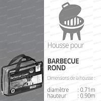 Housse bache protection barbecue rond diam.71cm couleur gris