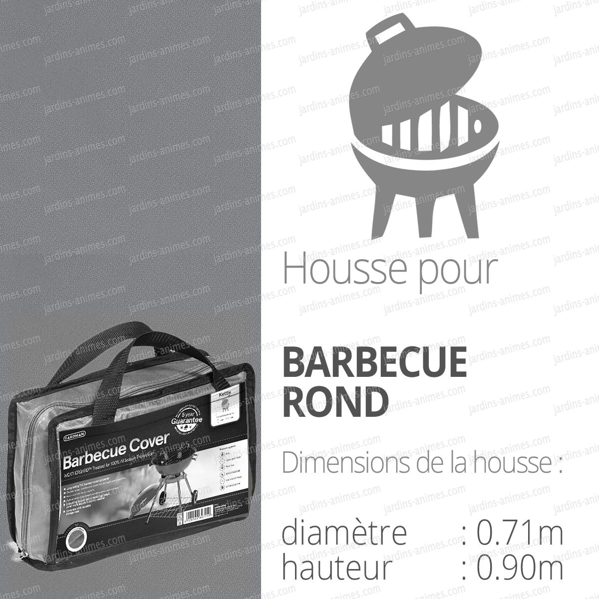 Housse bache protection barbecue rond couleur for Housse pour tabouret rond