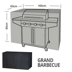 Housse bâche protection grand barbecue long. 165cm