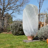 Set de 2 housses d'hivernage zippées Blanc - Diam. 125cm x haut. 180cm