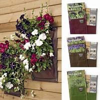 Jardin Vertical Verti-Plant 3 poches pour Salades, aromatiques et petites plantes - lot de 2