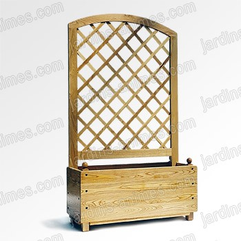 bac jardiniere claustra arrondie en chataigner mobilier. Black Bedroom Furniture Sets. Home Design Ideas