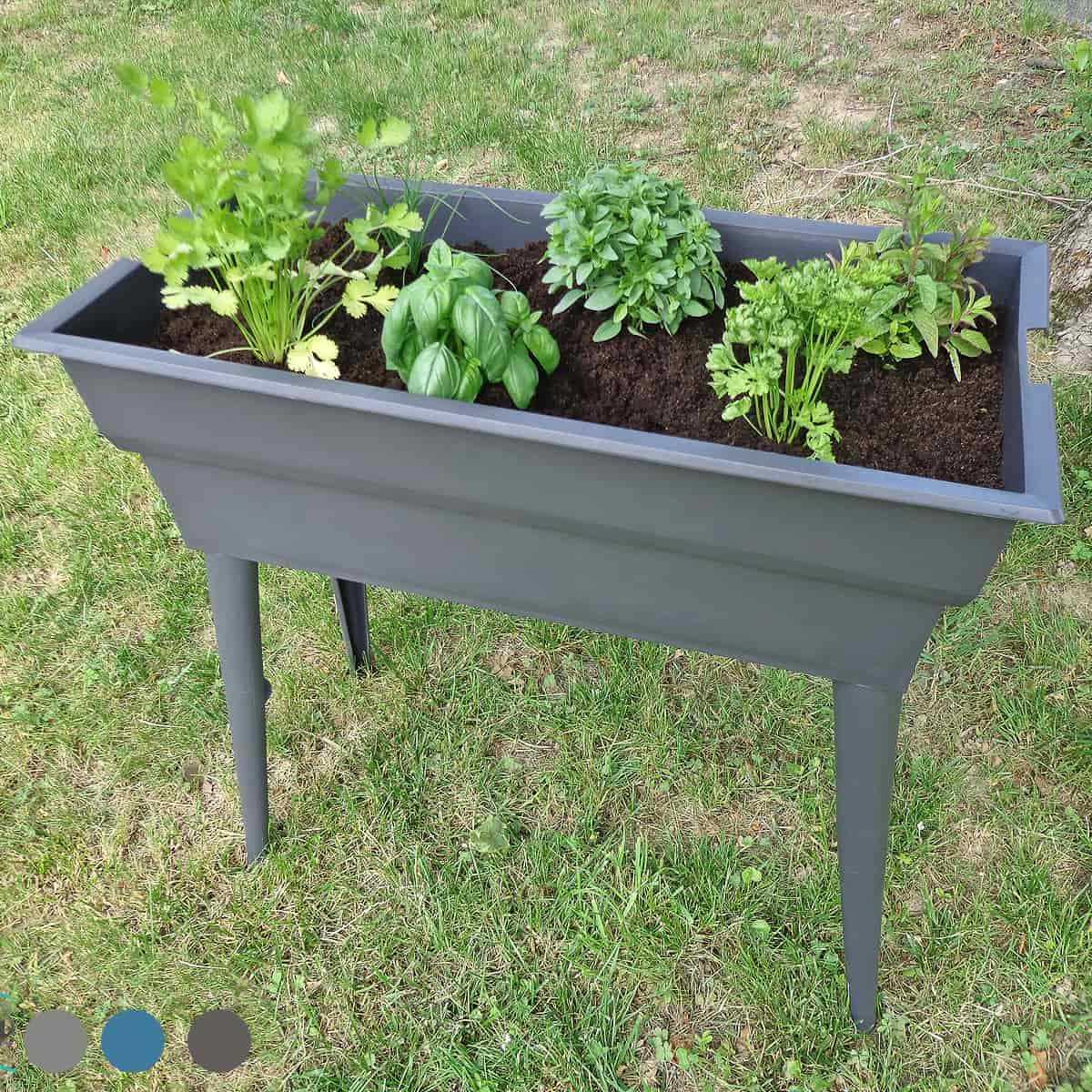Planter Herbes Aromatiques Jardiniere potager jardinière sur pieds calipso maxi basic 40l
