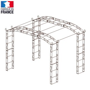 Kiosque de jardin large 6.90m2