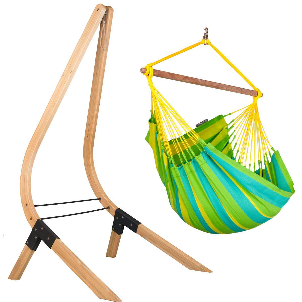 Kit chaise hamac Sonrisa et support en bois