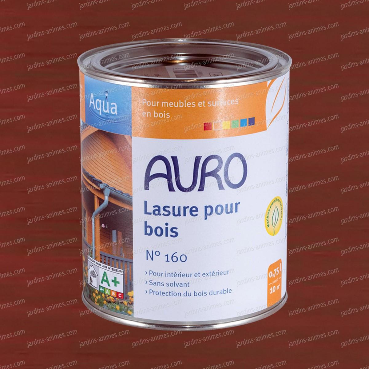 lasure bois aqua acajou auro 160 37 peintures et traitements pour le bois. Black Bedroom Furniture Sets. Home Design Ideas