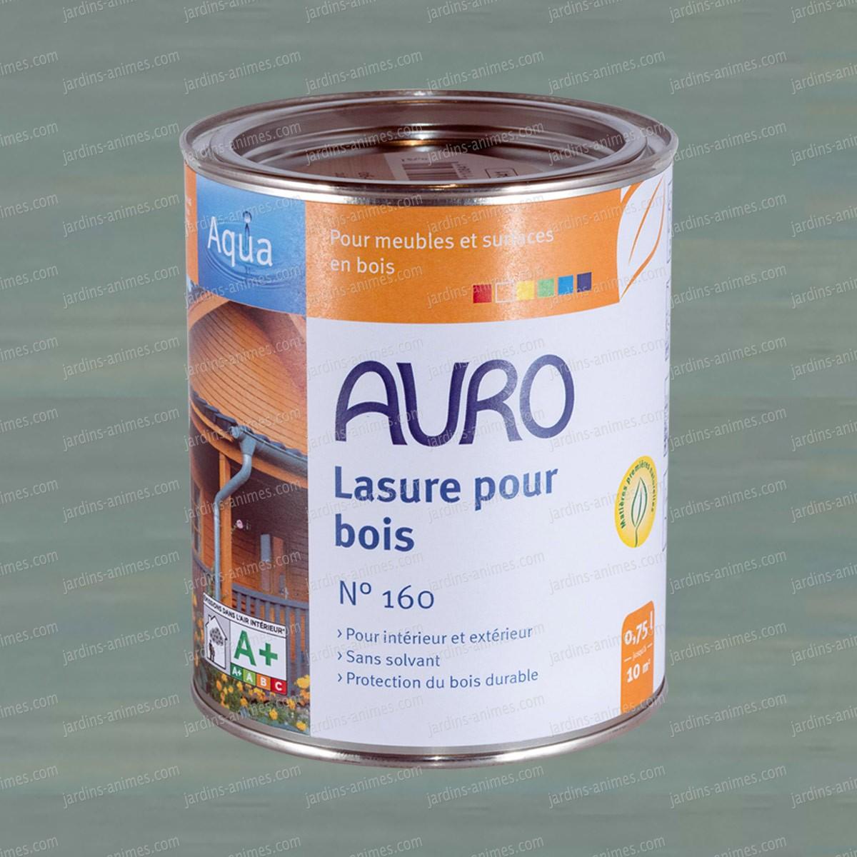 lasure bois aqua gris auro 160 74 peintures et traitements pour le bois. Black Bedroom Furniture Sets. Home Design Ideas