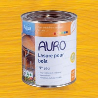 Lasure Bois Aqua Jaune Ocre 0.75L Auro 160-15