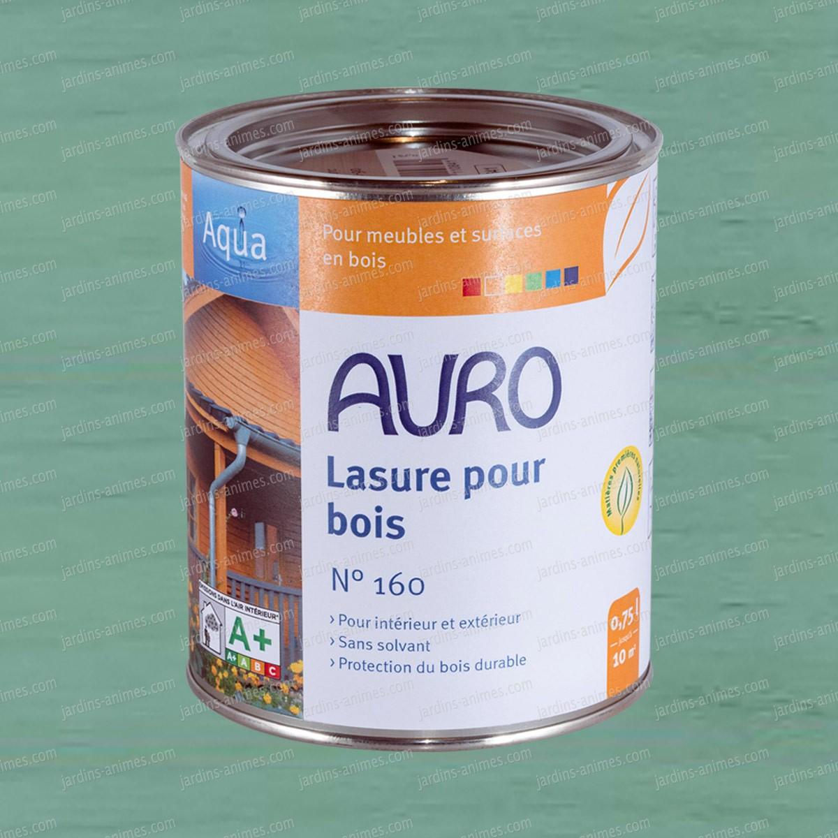 lasure bois aqua turquoise auro 160 52 peintures et traitements pour le bois. Black Bedroom Furniture Sets. Home Design Ideas