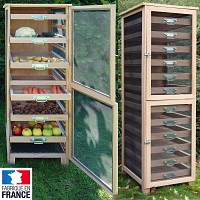 Meuble Légumier fruitier en bois 6 tiroirs
