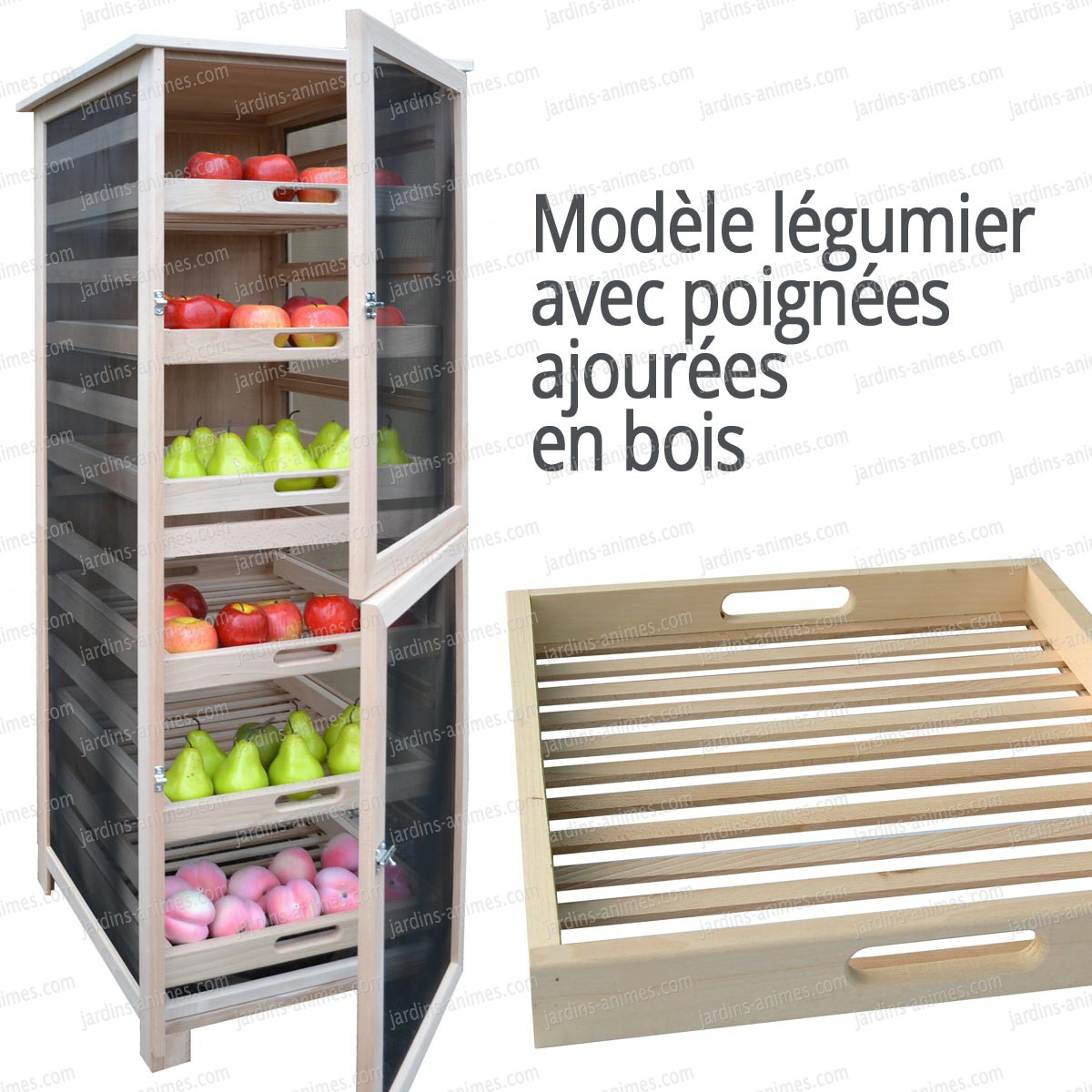 l gumier fruit 6 tiroirs mod le haut poign e bois. Black Bedroom Furniture Sets. Home Design Ideas