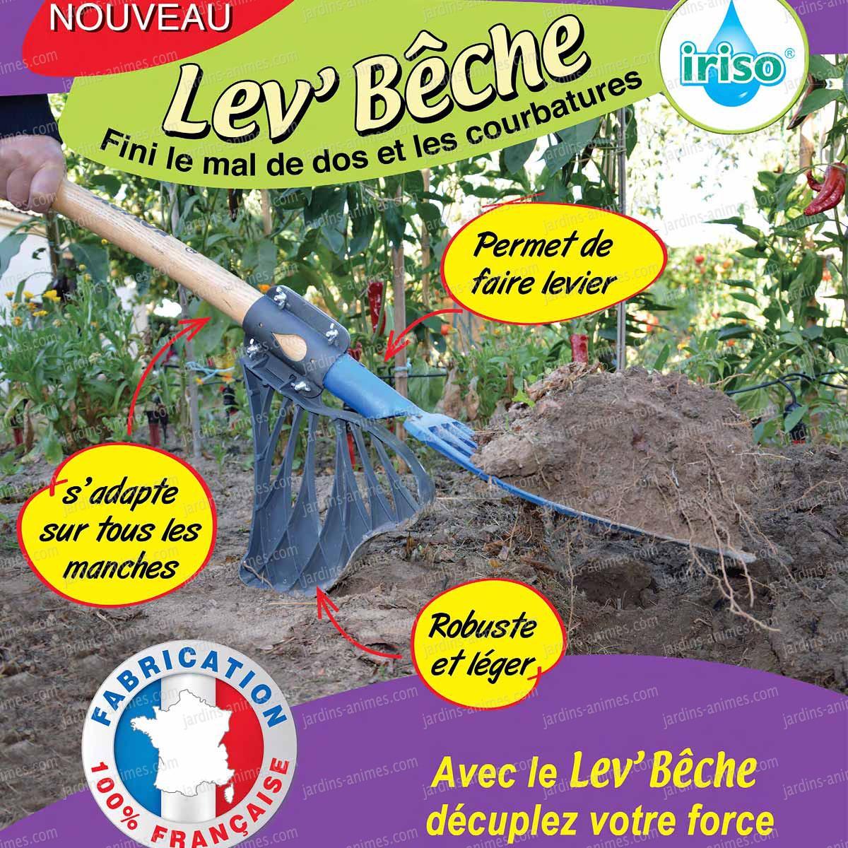 Levb che accessoire pour b cher sans effort iriso outil de jardin ecologique - Beche de jardin ...