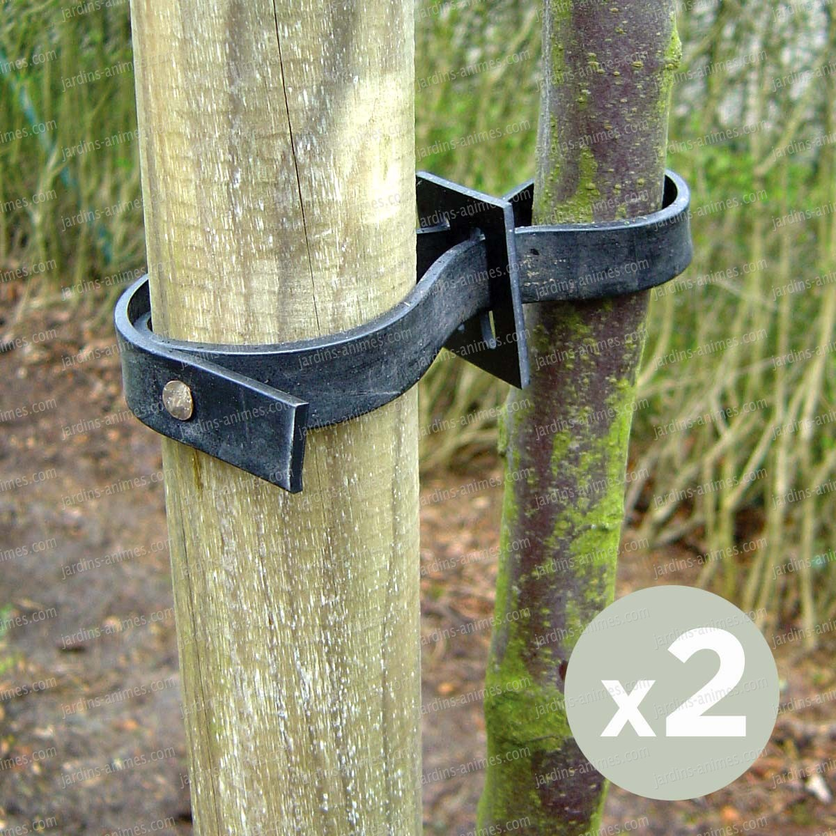 Collier arbre bande à clouer élastique - lot de 2