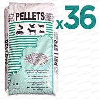 Litière pellets de paille de froment x36 sacs pour chevaux