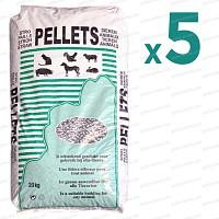 Litière pellets de paille de froment x5 sac pour chevaux