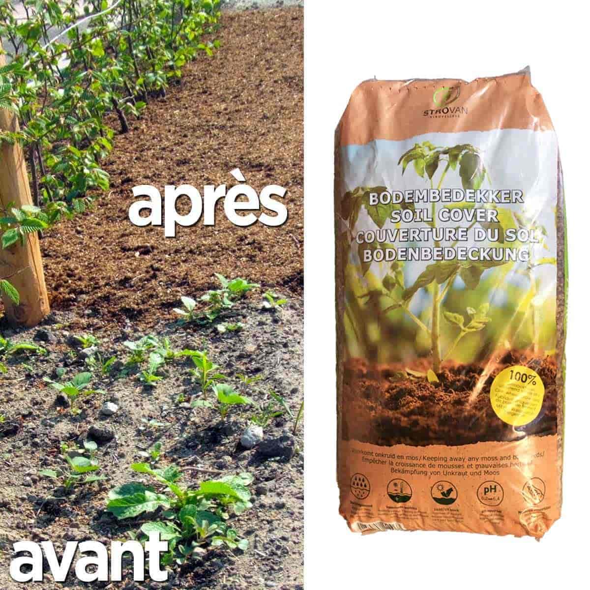 Paillage granul s pellets de paille de froment terreau et paillage - Acheter de la paille pour jardin ...
