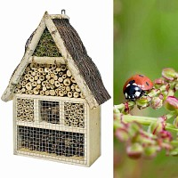 Maison hotel à insectes en pin et bouleau