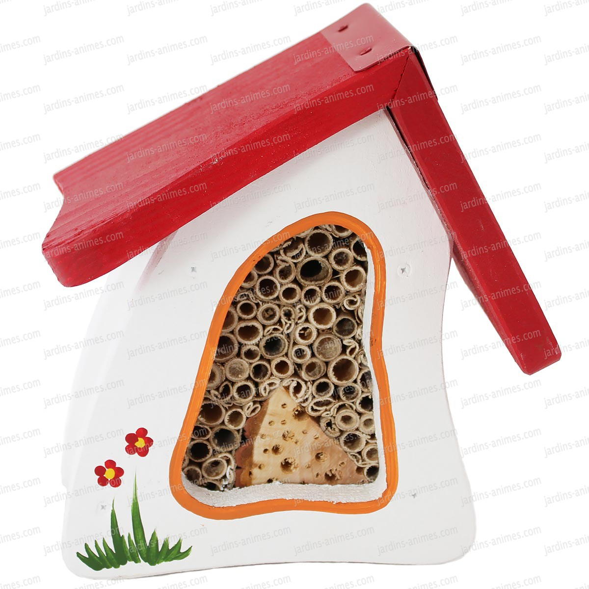 Villa insectes blanc maisons abris animaux - Maison a insectes fabrication ...