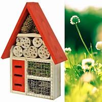 Maison pour insectes, toit rouge
