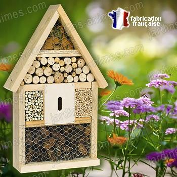 Maison hotel observation des insectes et abri maisons abris animaux - Maison a insectes plan ...