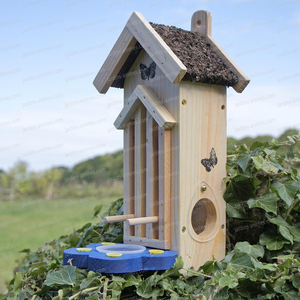 Maison papillon fsc maisons abris animaux - Maison a insectes fabrication ...