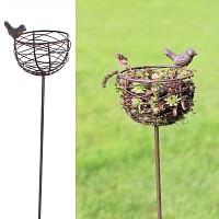 Mangeoire nid oiseau en fonte et fil d'acier