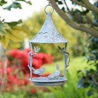 Mangeoire oiseau à suspendre en acier