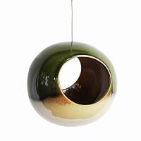 Mangeoire oiseau ronde sixties en céramique - Vert