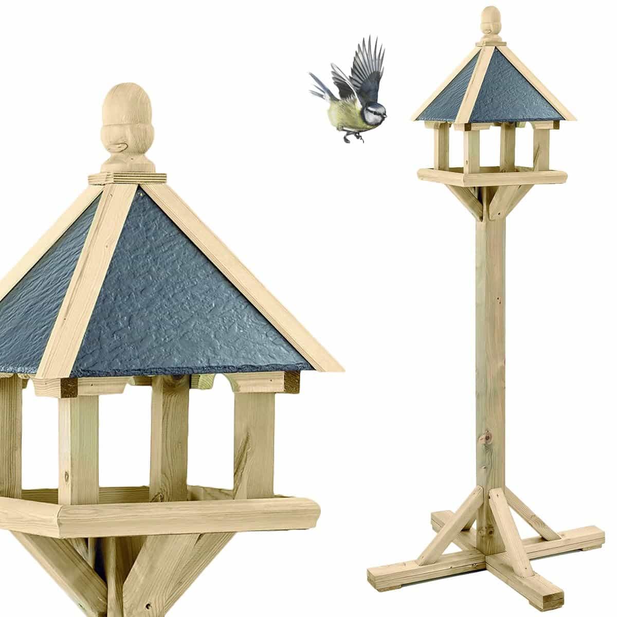 fabriquer mangeoire oiseaux sur pied