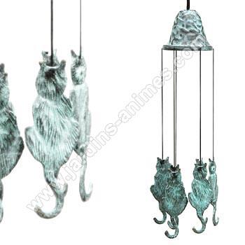 carillon bronze chat carillons zen et feng shui. Black Bedroom Furniture Sets. Home Design Ideas