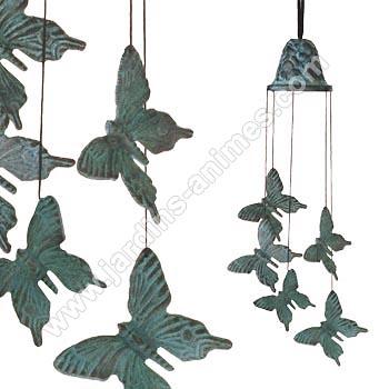 carillon bronze papillon carillons zen et feng shui. Black Bedroom Furniture Sets. Home Design Ideas