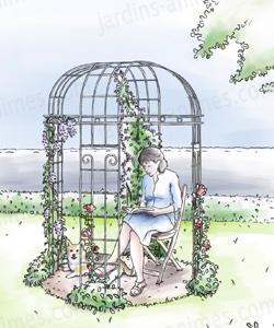 gloriette acier art d co 4 pieds diam arches kiosque et marquise. Black Bedroom Furniture Sets. Home Design Ideas