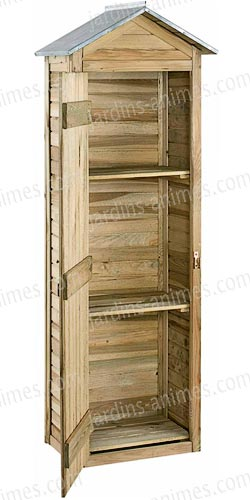 armoire de rangement bois fsc mobilier de jardin. Black Bedroom Furniture Sets. Home Design Ideas