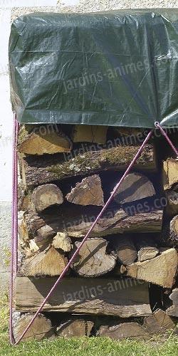 bâche de protection spéciale tas de bois - protection du mobilier