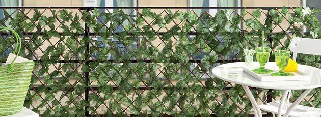 Treillage osier et lierre artificiel 1mx2m cloture et for Bambou artificiel 2m