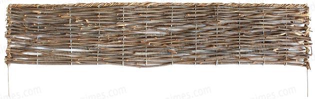 Bordure pliable rotin-osier 95cm en acier - Bordure de Jardin