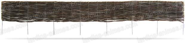 Bordure pliable rotin 180cm - Bordure de Jardin
