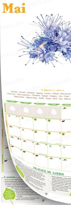 Calendrier 2015 du potager bio jardinez avec la lune for Calendrier lunaire jardin mai 2015