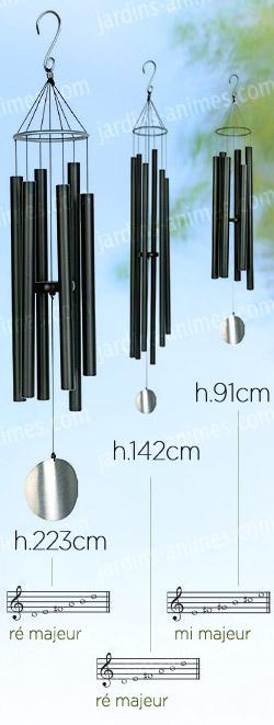 Carillon vent g ant en aluminium noir carillons zen et feng shui - Carillon a vent exterieur ...