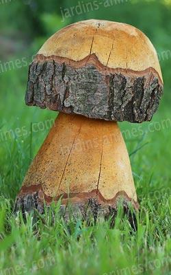 Champignons décoratifs en bois - Mobilier de Jardin